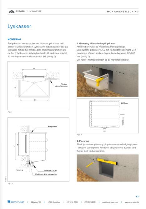 Montagevejledning lyskasse